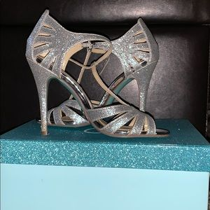Silver heels by Betsey Johnson